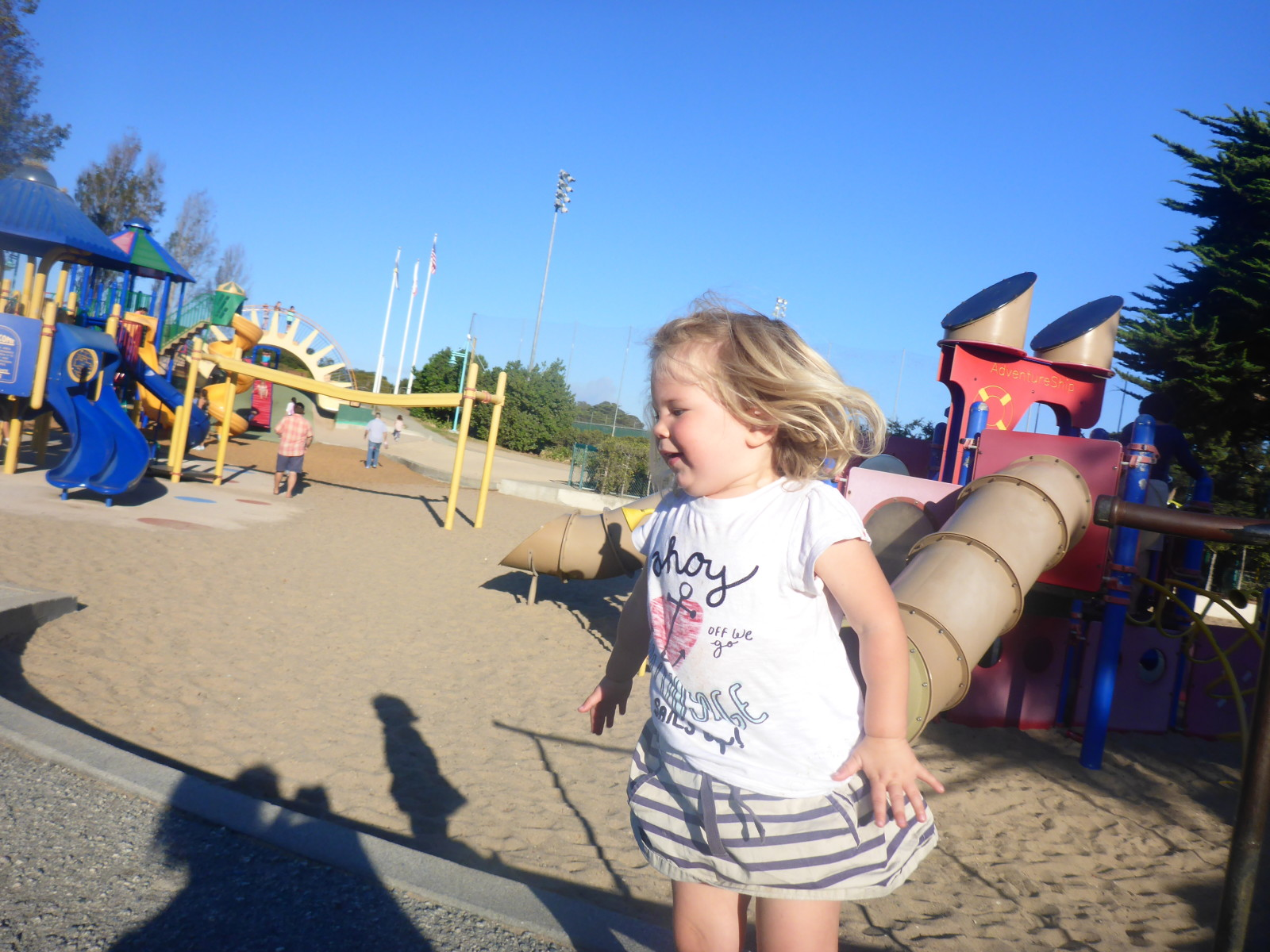 Great playground - she didn't stop moving