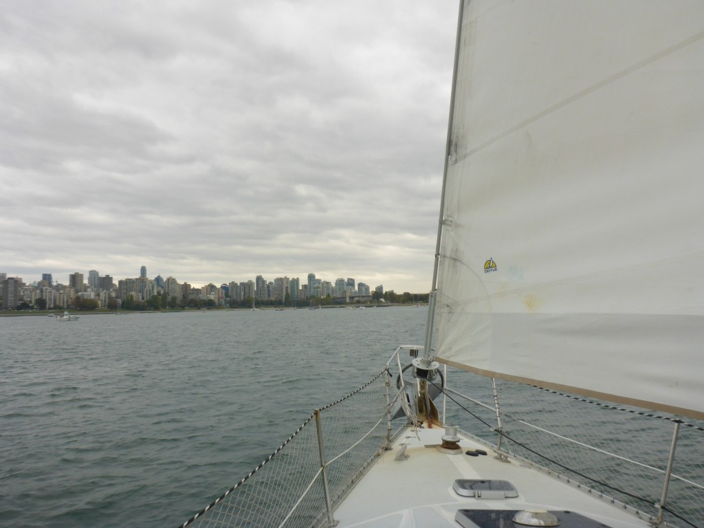 Sailing into English Bay